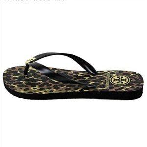 Tory Burch Shoes - Tory Burch Leopard Print Rubber Flip Flop